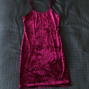 Purple/Magenta Velvet Mini Dress